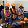 Visitors to an AHC resource fair check out CLAC's personal protective equipment booth